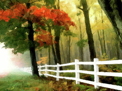 Painting - Misty In The Dell P D P by David Dehner