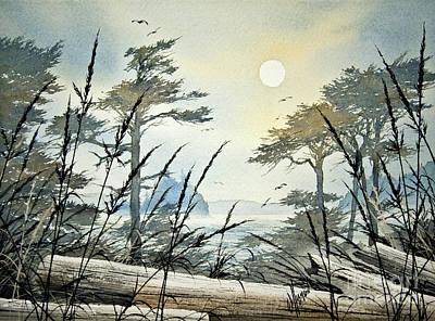 Misty Island Dawn Print by James Williamson