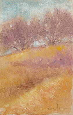 Fog Mixed Media - Misty Landscape II by Tracie Thompson