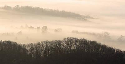 Misty Morning At Cumberland Gap Print by Brian M Lumley