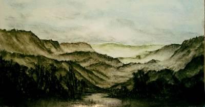 Misty Morning In Pa Print by Karen Cortese