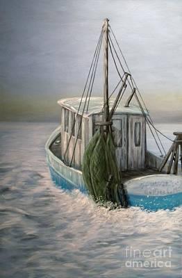 Net Painting - Misty Morning by JoAnn Wheeler