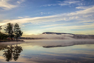 Misty Morning Print by Mark Papke