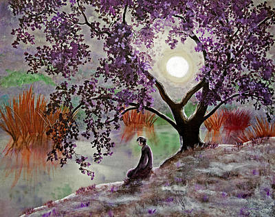 Misty Morning Meditation Print by Laura Iverson
