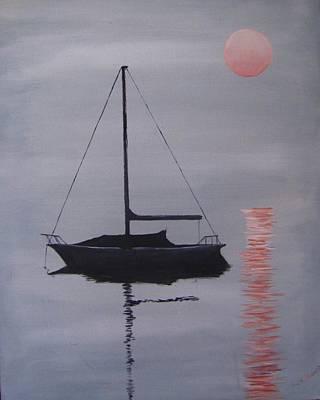 Misty Morning Mooring Original by Jack Skinner