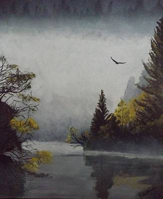 Painting - Misty Morning by Pamela Anderson
