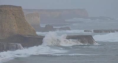 Misty Pacific Cliffs Print by Grace Dillon