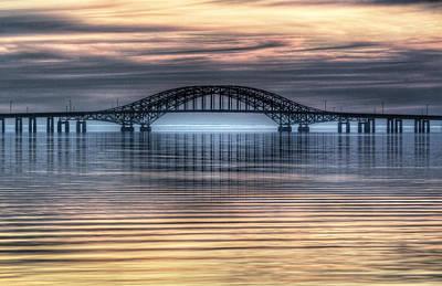 Misty Reflective Sunrise Print by Vicki Jauron