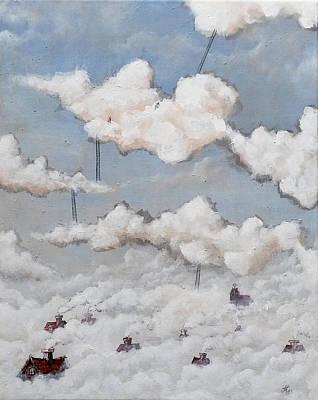Painting - Misty Town  by Mariusz Zawadzki