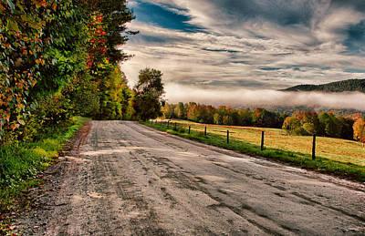 Misty Vermont Morning Print by Janet Ballard