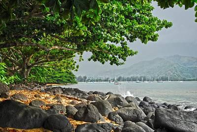 Kauai Photograph - Misty View Of Hanalei Bay by Lynn Bauer