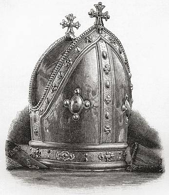 Mitre Of Bishop Wren. Matthew Wren Print by Vintage Design Pics