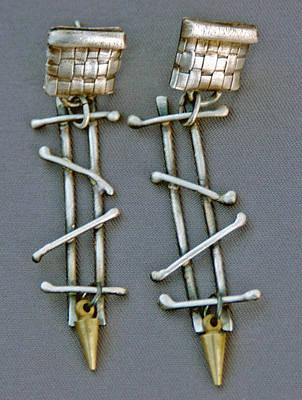 Sterling Silver Jewelry - Mixed Metal Earrings by Mirinda Kossoff