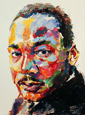 Martin Luther King Jr Painting - MLK by Derek Russell