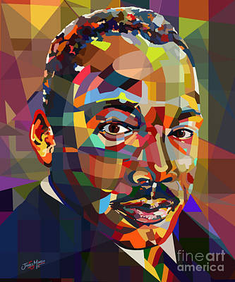Statesmen Digital Art - MLK by James  Mingo