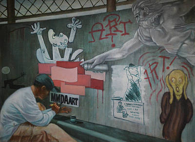 Hockney Painting - Mmda, Art? by Mark Lester Rodriguez