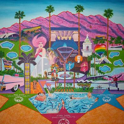 Sinatra Painting - mmmm... Palm Springs by Randall Weidner