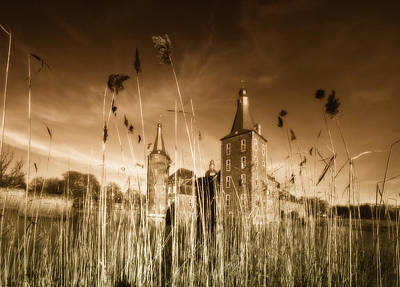 Moated Castle Print by Heinz Dieter Falkenstein