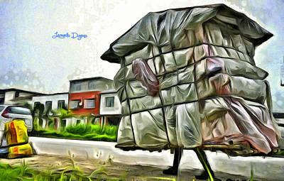 Homeless Digital Art - Mobile Home - Da by Leonardo Digenio
