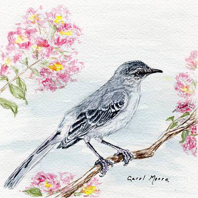 Mockingbird Painting - Mockingbird Summer by Carol Moore