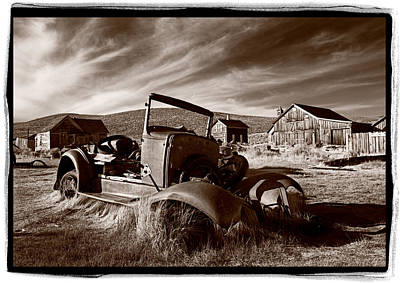 Ghost Town Photograph - Model A Bodie by Steve Gadomski