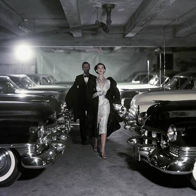 Ball Gown Photograph - Model Barbara Mullen In Parking Garage by Conde Nast