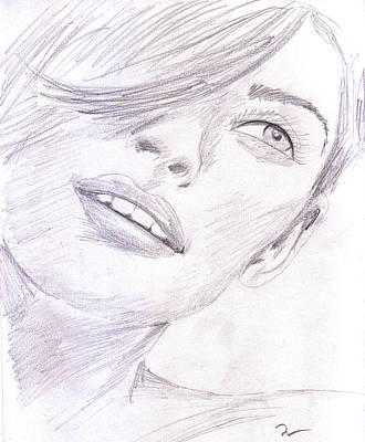 Sketch Drawing - Model by Jose Valeriano