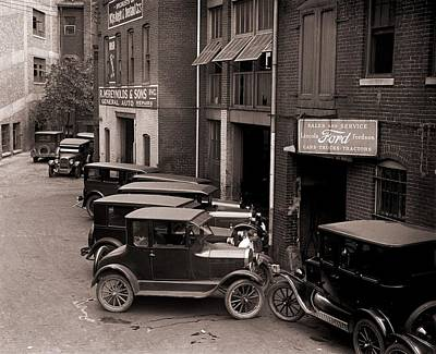 Ford Model T Car Photograph - Model Ts, And One More Luxurious by Everett