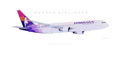 Airliners Drawing - Modern Airliner 5 by Brian Roland