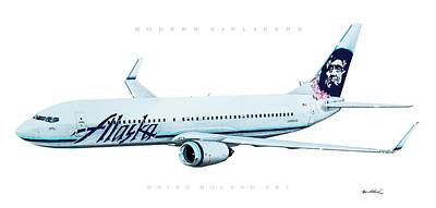 Airliners Drawing - Modern Airliners 2 by Brian Roland