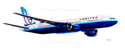 Airliners Drawing - Modern Airliners 6.0 by Brian Roland