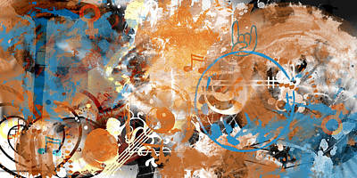 Abstract Movement Digital Art - Modern Art Beyond Control by Melanie Viola