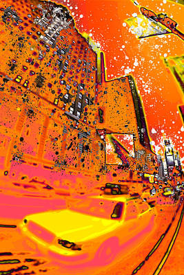 Modern Art Nyc Times Square I Print by Melanie Viola