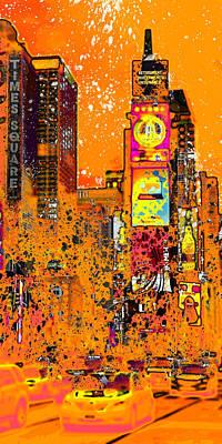Modern Art Nyc Times Square IIi Print by Melanie Viola