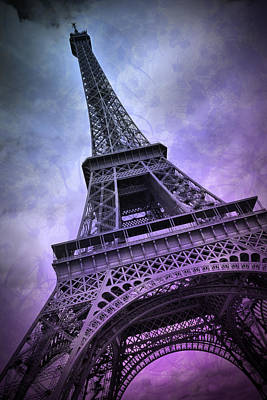 Modern Art Paris Eiffel Tower  Print by Melanie Viola