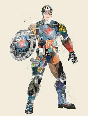 Modern Captain America Print by Bri B