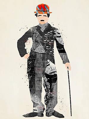 Modern Chaplin Print by Bri B