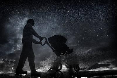 Stroller Photograph - Modern Dad. by Antonio Grambone