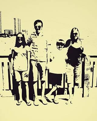 Modern Day Single Mom Family Vacation  Print by Sheri Buchheit