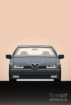 Modern Euro Icons Series Alfa Romeo 164 Quadrifoglio Q4 Print by Monkey Crisis On Mars