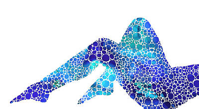 Modern Nude - Legs - Sharon Cummings Print by Sharon Cummings