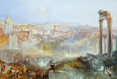 Apprehension Painting - Modern Rome by JMW Turner