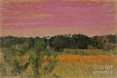 Modern Sstyle Texas Landscape Original by Linda Phelps