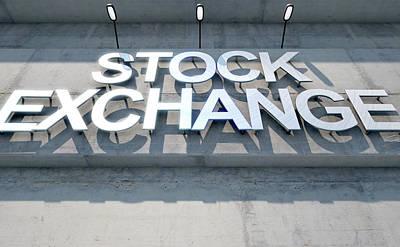 Financial Digital Art - Modern Stock Exhange Signage by Allan Swart