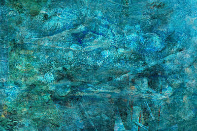 Modern Turquoise Art - Deep Mystery - Sharon Cummings Print by Sharon Cummings