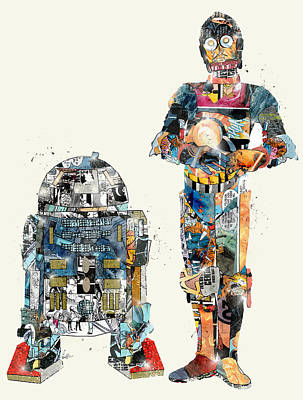 R2d2 Painting - Modern Wars by Bri B