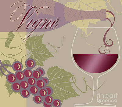 Wine Glass Painting - Modern Wine II by Mindy Sommers