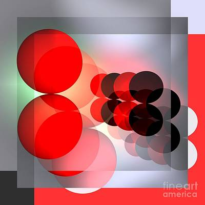 Red Digital Art - Modern Art -2- by Issabild -