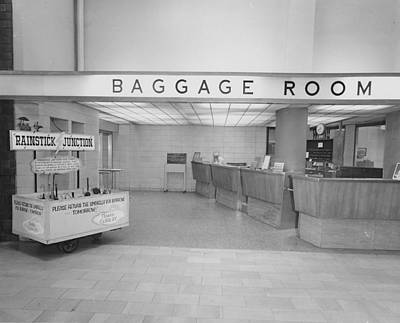 Baggage Room At Chicago Passenger Terminal Print by Chicago and North Western Historical Society