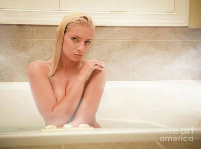 Washing Hair Photograph - Modest Steam Bath  by Jt PhotoDesign